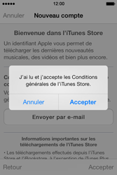 Apple iPhone 4 S iOS 7 - Applications - Créer un compte - Étape 11