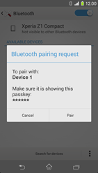 Sony Xperia Z1 Compact - Bluetooth - Connecting devices - Step 7