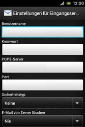 Sony Xperia Miro - E-Mail - Konto einrichten - Schritt 8