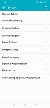 Huawei Honor Play - Fehlerbehebung - Handy zurücksetzen - Schritt 6