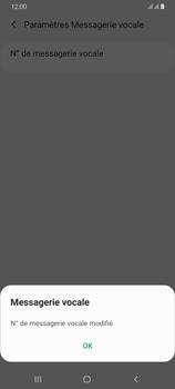 Samsung Galaxy A70 - Messagerie vocale - configuration manuelle - Étape 12