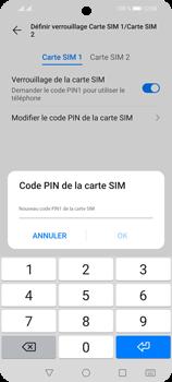 Huawei P Smart 2021 - Sécuriser votre mobile - Personnaliser le code PIN de votre carte SIM - Étape 11