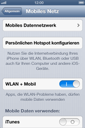 Apple iPhone 4S - Internet und Datenroaming - Manuelle Konfiguration - Schritt 6