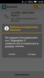 Alcatel Pop C7 - Bluetooth - Collegamento dei dispositivi - Fase 7
