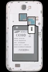 Samsung N7100 Galaxy Note 2 - SIM-Karte - Einlegen - Schritt 3
