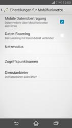 Sony Xperia Z3 Compact - Netzwerk - Manuelle Netzwerkwahl - Schritt 6