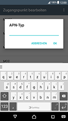 Sony Xperia X Compact - Internet und Datenroaming - Manuelle Konfiguration - Schritt 14