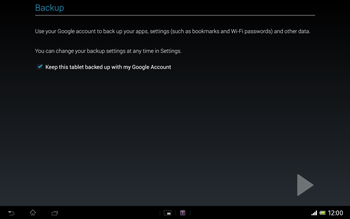 Sony Xperia Tablet Z LTE - Applications - Setting up the application store - Step 24