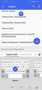 Huawei P30 Lite - Operazioni iniziali - Come aggiungere una lingua alla tastiera - Fase 9