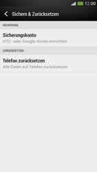 HTC One Mini - Gerät - Zurücksetzen auf die Werkseinstellungen - Schritt 5