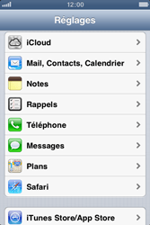 Apple iPhone 3GS - E-mail - Configuration manuelle - Étape 3