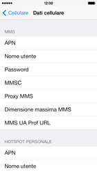 Apple iPhone 5c - MMS - Configurazione manuale - Fase 8