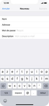Apple iPhone XS - E-mail - configuration manuelle - Étape 8