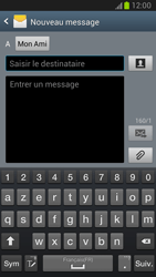 Samsung Galaxy Note 2 - Contact, Appels, SMS/MMS - Envoyer un SMS - Étape 9