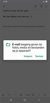 Samsung galaxy-a6-plus-sm-a605fn-ds-android-pie - E-mail - Bericht met attachment versturen - Stap 14