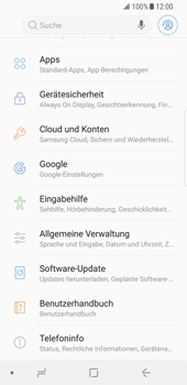 Samsung Galaxy S8 - Android Oreo - Software - Installieren von Software-Updates - Schritt 5