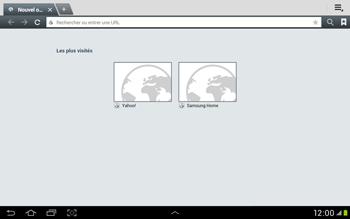 Samsung Galaxy Tab 2 10.1 - Internet et roaming de données - Navigation sur Internet - Étape 4