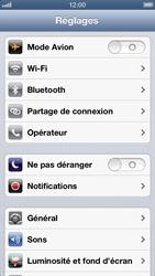 Apple iPhone 5 - Internet et roaming de données - Désactivation du roaming de données - Étape 3