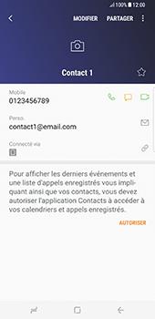 Samsung Galaxy S8+ - Contact, Appels, SMS/MMS - Ajouter un contact - Étape 12