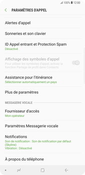 Samsung Galaxy Note9 - Messagerie vocale - Configuration manuelle - Étape 7