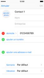 Apple iPhone SE - Contact, Appels, SMS/MMS - Ajouter un contact - Étape 11