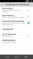 Huawei Ascend P6 - Internet und Datenroaming - Prüfen, ob Datenkonnektivität aktiviert ist - Schritt 5
