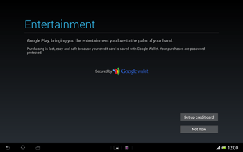Sony Xperia Tablet Z LTE - Applications - Setting up the application store - Step 23