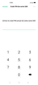 Oppo Reno 4 - Sécuriser votre mobile - Personnaliser le code PIN de votre carte SIM - Étape 8