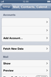 Apple iPhone 3GS - E-mail - Manual configuration - Step 4