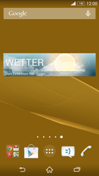 Sony Xperia Z3 - Startanleitung - Installieren von Widgets und Apps auf der Startseite - Schritt 8