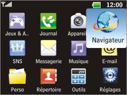 LG C360 Golf - Internet - Navigation sur Internet - Étape 2
