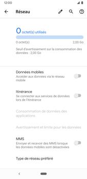 Google Pixel 3a - Internet et connexion - Désactiver la connexion Internet - Étape 7