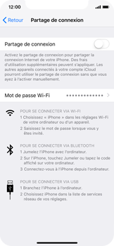 Apple iPhone XS - iOS 12 - Internet et connexion - Utiliser le mode modem par USB - Étape 6