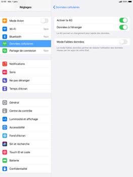 Apple iPad Air (2019) - iPadOS 13 - Internet et roaming de données - Désactivation du roaming de données - Étape 5