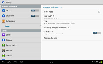 Samsung Galaxy Tab 2 10.1 - Network - Manual network selection - Step 5