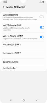 Samsung Galaxy A50 - Netzwerk - Manuelle Netzwerkwahl - Schritt 6