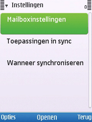 Nokia 6700 slide - E-mail - Handmatig instellen - Stap 17