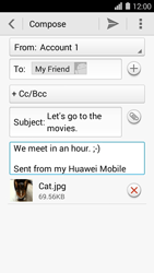 Huawei Ascend Y550 - E-mail - Sending emails - Step 15