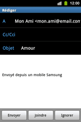 Samsung S5830i Galaxy Ace i - E-mail - envoyer un e-mail - Étape 8