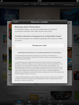 Apple iPad Retina - Applications - Configuration de votre store d