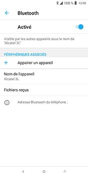Alcatel 3L - Internet et connexion - Connexion avec un équipement multimédia via Bluetooth - Étape 8