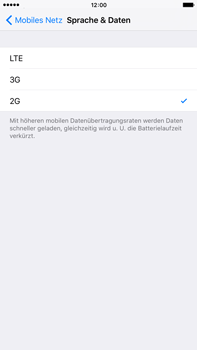 Apple iPhone 6s Plus - Netzwerk - Netzwerkeinstellungen ändern - 6 / 6