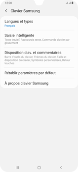 Samsung Galaxy A70 - Prise en main - Comment ajouter une langue de clavier - Étape 8