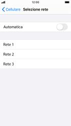 Apple iPhone SE - iOS 13 - Rete - Selezione manuale della rete - Fase 6