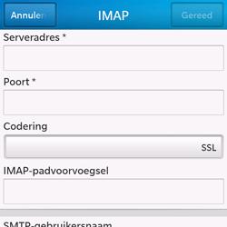 BlackBerry Q10 - E-mail - Handmatig instellen - Stap 10