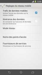 Sony Xperia Z1 Compact - Internet et roaming de données - Comment vérifier que la connexion des données est activée - Étape 8