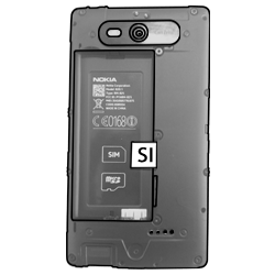 Nokia Lumia 820 LTE - SIM-Karte - Einlegen - Schritt 3