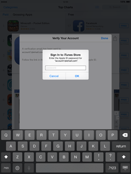 Apple iPad mini - iOS 8 - Applications - Setting up the application store - Step 24