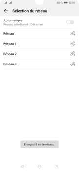 Huawei P30 - Réseau - Sélection manuelle du réseau - Étape 11