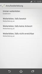 Sony Xperia Z3 - Anrufe - Rufumleitungen setzen und löschen - 6 / 9